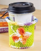 Z631 Crochet PATTERN ONLY Butterfly Cup Cozy Pattern - $6.50