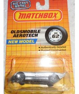 "Matchbox 1987 ""Oldsmobile Aerotech"" #MB62 Mint Car Sealed On New Model Card - £5.81 GBP"