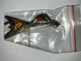 Hard Rock Cafe Atlanta Georgia Flying V Peach Guitar Pin - $12.19