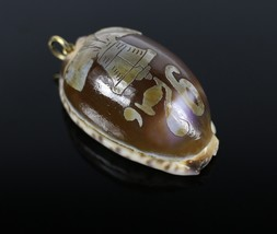 Vintage Tiger Leopard Cowrie 1775 Liberty Bell Necklace Pendant Costume ... - $18.51