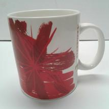 Starbucks Mug 12 Oz Red Christmas Flower Poinsettia Gold 2014 Holiday - $13.00