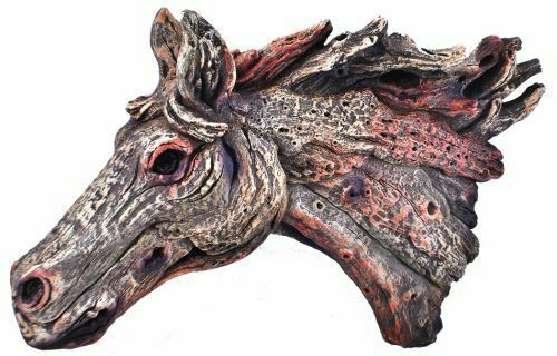 "Primary image for Wood Look Horse Head Wall Art Measures approx. 15""x 8"" Includes Wall Hangers"