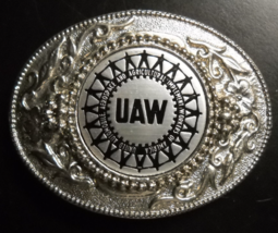 UAW Belt Buckle United Automobile Aerospace and Agriculture Implement Workers - $18.99