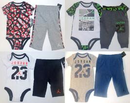 Air Jordan Infant Boys 2pc Bodysuit and Pants Sets 4 Various Choices & S... - $20.99