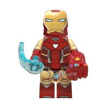 Iron Man with 6 Infinity Stones Marvel Avengers Endgame Lego Minifigure... - $1.99