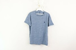 Polo Ralph Lauren Mens Medium Casual Short Sleeve T-Shirt Heather Blue C... - $19.75