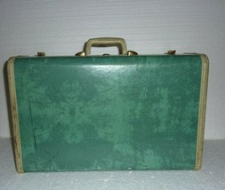 Vintage Samsonite Bermuda Aqua Green Hard Suitcase Shwayder Bros Model 5121 - $33.85