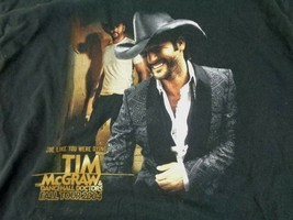 Tim McGraw Men T Shirt Pre Shrunk Size XL Black Mens Fall Tour 2004 misc18 - $10.18