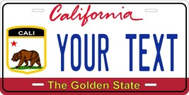 California Flag v3 License Plate Personalized Custom Auto Bike Motorcycl... - $10.99+