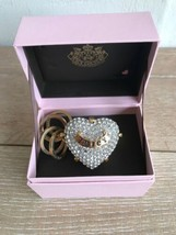 Juicy Couture Engagement Ring Key Ring Fob Purse Charm Pave Heart New Box - $59.39