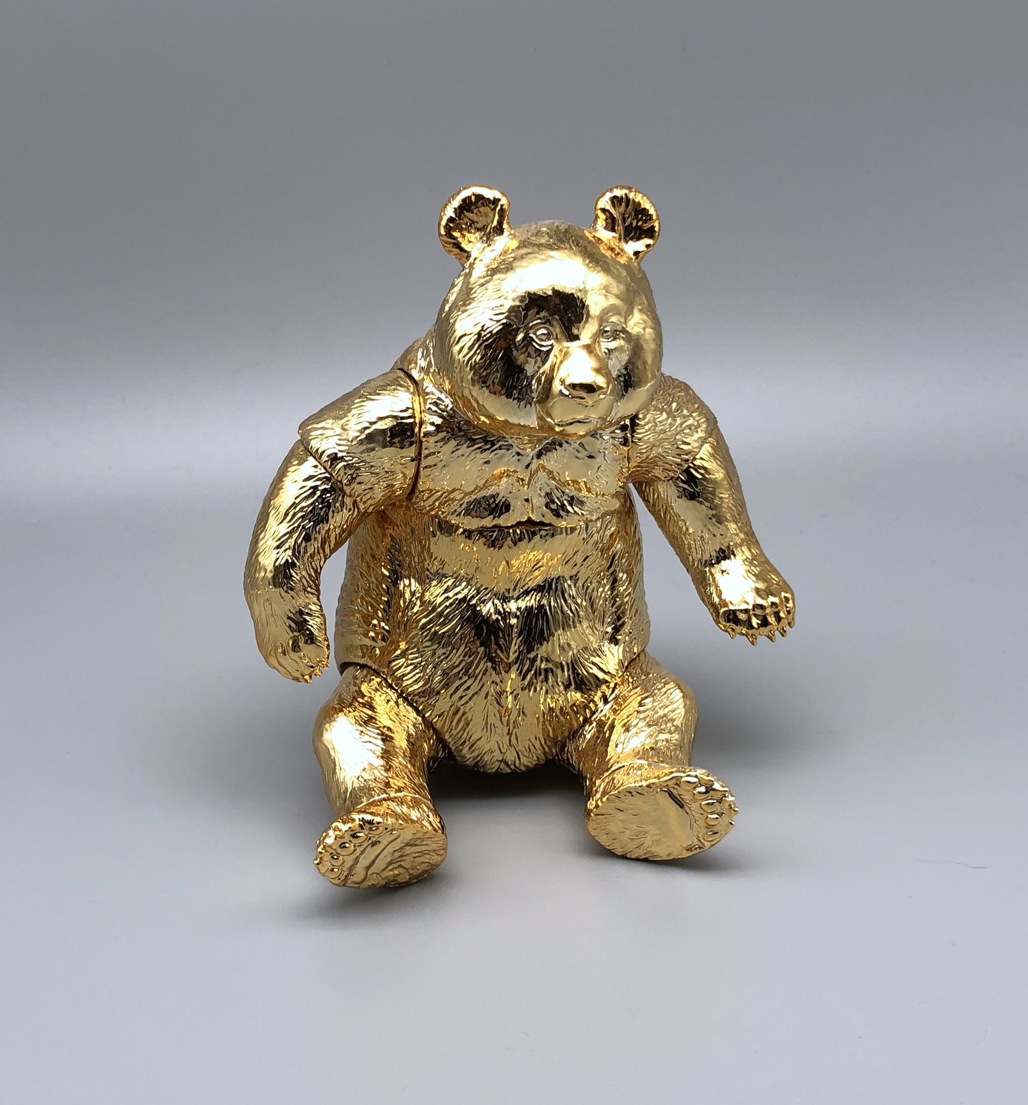 Sofubi Toy Box - Gold Panda (Rare Show Exclusive)