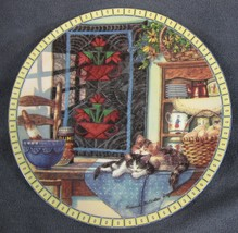 LAZY MORNING Cozy Country Corners Collector Plate Hannah Hollister Ingmi... - $21.95