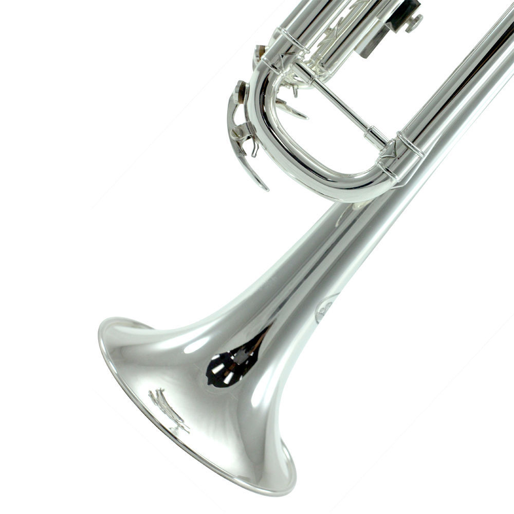 Band Approved SILVER Trumpet w Case + FREE Carrying Bag
