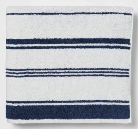 "Threshold Performance Bath Towel 30"" X 54 "".XAVIER NAVY Towel -New"