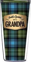 Grandpa On Blue Flannel Traveler 16 Oz Tumbler Cup - $17.95