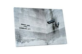 "Pingo World 0113Q47ISQS ""Banksy What Are You Looking At"" Gallery Wrapped Canvas  - $57.37"