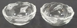 """N) Set of 2 Frosted Glass Scalloped Rim Candy Dish Bowls - 5-5/8"""" - $9.89"""