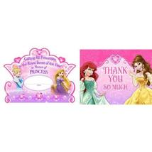 Disney Princess Dream Party Invitations &Thank-You Postcards (8 each) by... - $4.95