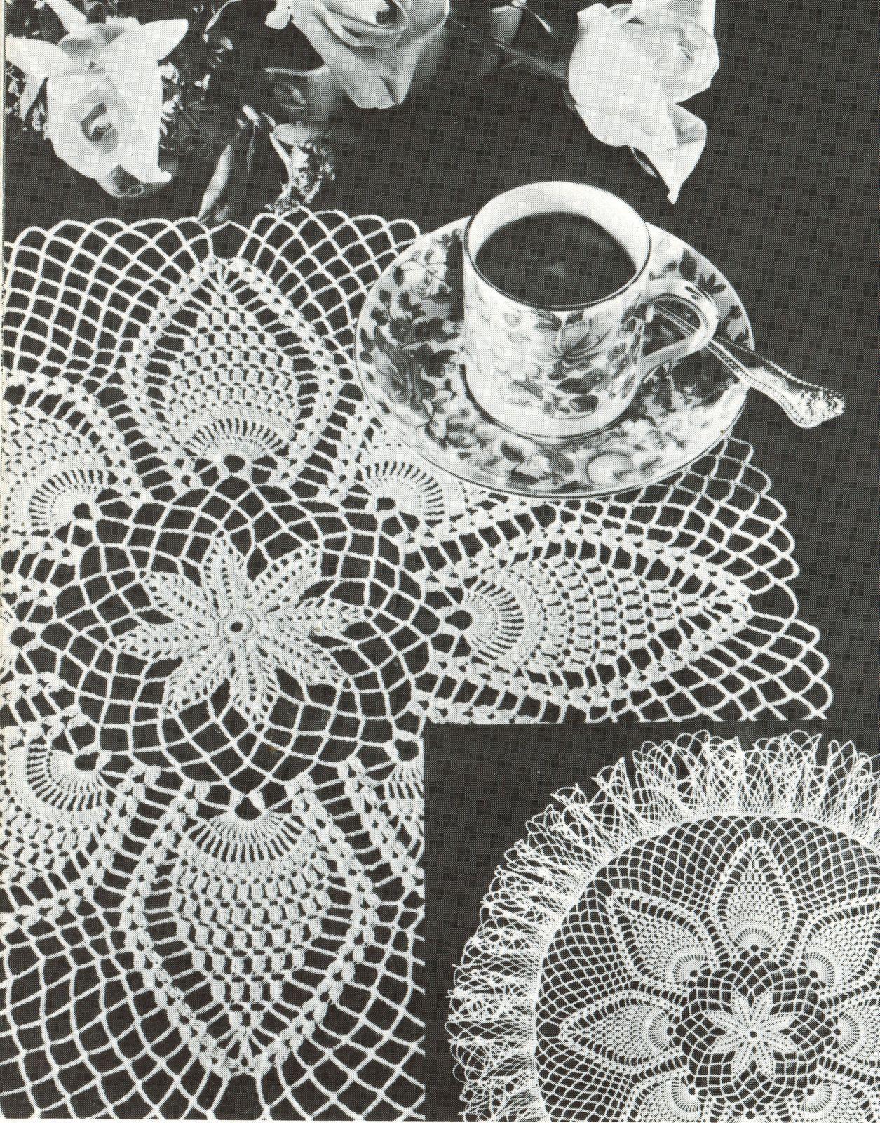 Pineapple Doilies Tablecloth Runner Luncheon Buffet Armchair Crochet Patterns  image 11
