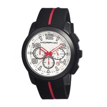 Morphic M22 Series Chronograph Men's Watch w/ Date - Black/White - $490.00