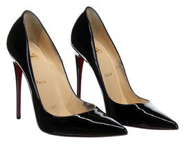 3e2d045cc7e6 Christian Louboutin Women's So Kate 120 Black Patent Heels Pumps Size  38.5