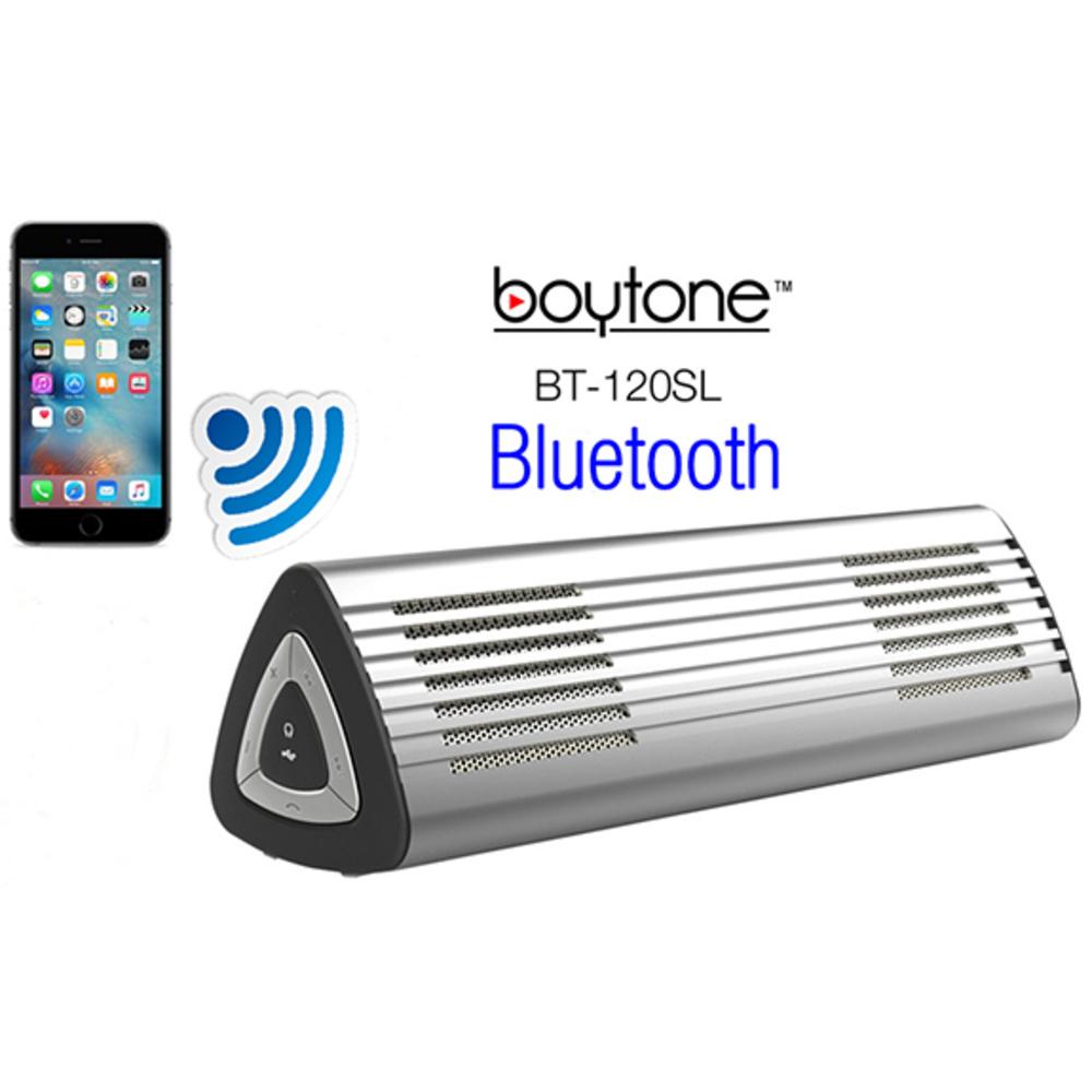 Boytone BT-120SL Ultra-Portable Wireless Bluetooth Speaker - Arctic Silver