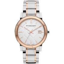 Burberry BU9006 Dual Tone Large Check Swiss Made Mens Watch - $169.90