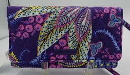 Vera Bradley Wallet Crossbody Clutch BATIK LEAVES NWT RV$58 MOTHERS DAY ... - $28.80