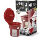 SOLOFILL K3 CHROME CUP Chrome Refillable Filter Cup for Keurig Brewing  System,