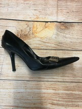 Dior Black Leather Pumps Shoes Pointed Toe Size 37.5 US 7 - $92.66