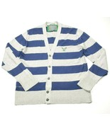 American Eagle Knit Button Down Striped Cardigan Sweater Mens XL Vintage... - $22.09