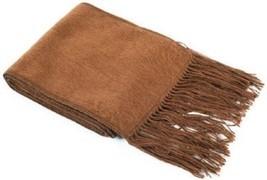 #2972 Soft Brushed 100% Alpaca Scarf Woven Peru Casual Fine Warm Unisex ... - £11.38 GBP