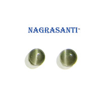 Nagrasanti GT 6mm Grey Cat's Eye Stud Earrings - $19.00