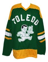 Custom Name # Toledo Buckeyes Retro Hockey Jersey New Green Any Size image 1