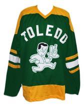 Custom   toledo buckeyes retro hockey jersey green   1 thumb200