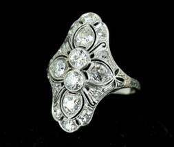 Antique European Mine Cut Pre 1907 FG VS2-SI1 Diamond White Gold Stunnin... - $3,149.99