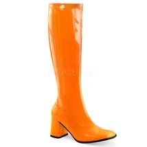 "Sexy 3"" High Heel Gogo Dancer UV Black Light Reactive Orange Boots Hallo... - $38.90"