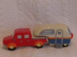 Beachcombers Ceramic Fifth Wheel Truck And Camper Salt And Pepper Shaker... - $10.85
