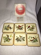SET OF 6 PIMPERNEL Acrylic COASTERS North American Song Birds Celluware ... - $16.82