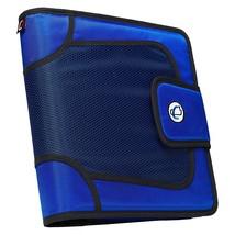 """CASE-IT 3"""" Capacity 3 Ring Binder Tabbed Expanding File Blue Hook+Loop Flap New! - $24.99"""
