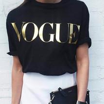 2018 New Fashion Brand Summer T Shirt Women VOGUE Printed T-shirt Women Tops Tee image 1