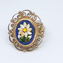 Micro Mosaic Ring Cobalt Royal Blue Vintage 40's - 50's image 1