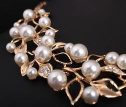 Match-Right Vintage Simulated Pearl Leaves Theme Necklace for Women image 4