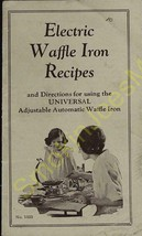 Vintage Advertisement Electric Waffle Iron Recipes Universal Waffle Iron No.1333 - $19.55