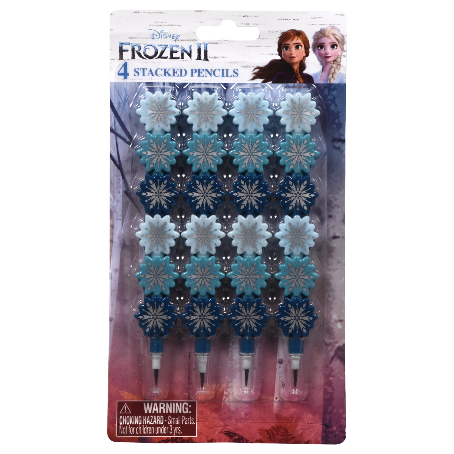 Frozen 2 stacked pencil 4 pack