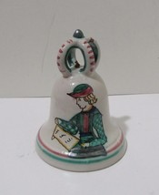Italian Pottery Bell Depicting a Town Crier Dinner Bell - $8.55