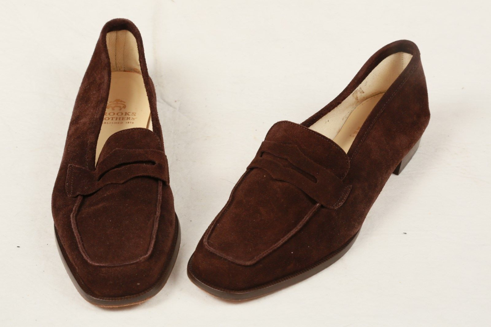 Brooks Brothers Brown Suede Leather Penny Loafers Womens 8 M Italy Sold for  $98