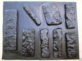 OKL-43K Limestone Veneer Rocks & DIY Supplies Kit+ 43 Molds Make 1000s of Stones image 7