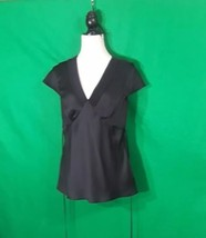 ANN TAYLOR Loft  Black Dress Size 10 100% Polyester  - $7.92
