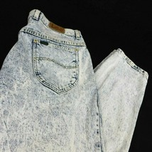 VTG Lee Bleached Acid Washed Pleated Jeans W 33 L 34 (Act W 33 L 32 )USA - $54.99